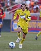 Columbus Crew Defender Frankie Hejduk (2) in the Real Salt Lake 1-0 win over Columbus Crew in Game 1 of the Semi-Finals of the MLS Playoffs on October 31, 2009 at  Rio Tinto Stadium in Sandy, Utah