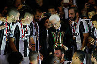 Sergio Matarella  after win    Italy Cup Final  football match against SS Lazio at  the Olympic stadium in Rome, Italy   17  May 2017