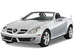 Front three quarter view of a 2009 Mercedes SLK Class 350.