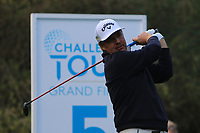 Ross McGowan (ENG) on the 5th tee during Round 3 of the Challenge Tour Grand Final 2019 at Club de Golf Alcanada, Port d'Alcúdia, Mallorca, Spain on Saturday 9th November 2019.<br /> Picture:  Thos Caffrey / Golffile<br /> <br /> All photo usage must carry mandatory copyright credit (© Golffile | Thos Caffrey)