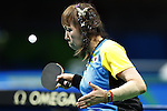 Kimie Bessho (JPN),<br /> SEPTEMBER 9, 2016 - Table Tennis : <br /> Women's Singles Class 5 Group Stage<br /> at Riocentro - Pavilion 3<br /> during the Rio 2016 Paralympic Games in Rio de Janeiro, Brazil.<br /> (Photo by Shingo Ito/AFLO)