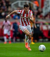 7th March 2020; Bet365 Stadium, Stoke, Staffordshire, England; English Championship Football, Stoke City versus Hull City; Danny Batth of Stoke City chases a loose ball