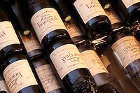 Bottles of Vacqueyras. Reserve la Monardiere 2002. Domaine la Monardiere Monardière, Vacqueyras, Vaucluse, Provence, France, Europe