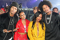 NEW YORK, NY - SEPTEMBER 10, 2016 Les Twins, Karrueche Tran & Christina Milian attend the Alexander Wang Fashion Show after party September 10, 2016 at Pier 94 in New York City. Photo Credit: Walik Goshorn / Mediapunch