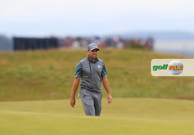 Sergio Garcia (ESP) on the 14th green during Sunday's Round 3 of the 144th Open Championship, St Andrews Old Course, St Andrews, Fife, Scotland. 19/07/2015.<br /> Picture Eoin Clarke, www.golffile.ie