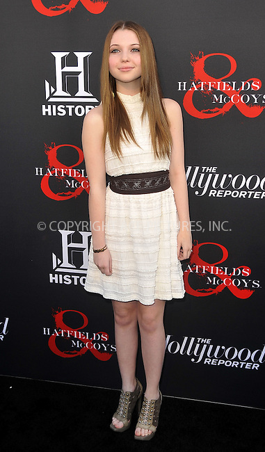 WWW.ACEPIXS.COM . . . . .  ....May 21 2012, LA....Sammi Hanratty at a special screening of 'Hatfields & McCoys' hosted by The History Channel at Milk Studios on May 21, 2012 in Hollywood, California. ....Please byline: PETER WEST - ACE PICTURES.... *** ***..Ace Pictures, Inc:  ..Philip Vaughan (212) 243-8787 or (646) 769 0430..e-mail: info@acepixs.com..web: http://www.acepixs.com