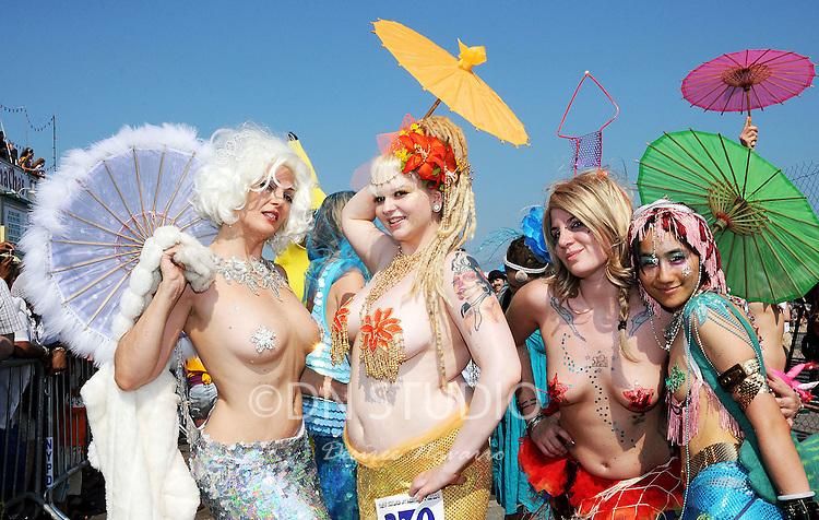Mermaid Day Parade at Coney Island in Brooklyn, NY.