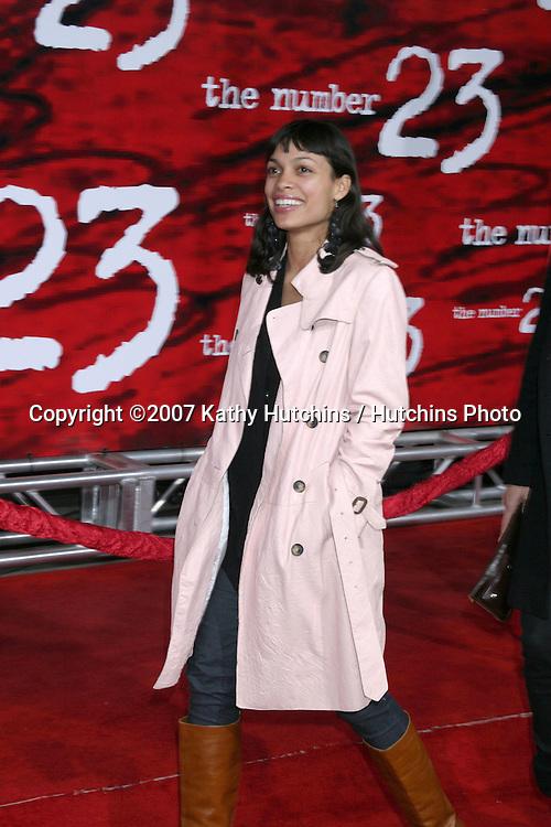 "Rosario Dawson.""The Number 23"" LA Premiere.Orpheum Theater.Los Angeles, CA.February 13, 2007.©2007 Kathy Hutchins / Hutchins Photo.-"