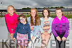 Julia Pilch, Ciara O'Shea, Ellie Mason, Taylor Jane Morecambe and Emily O'Shea  from Tralee enjoying THE 'Friends Of Kerry General Hospital Benefit Night at the Kingdom Greyhound stadium on Friday