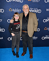 """LOS ANGELES, CA: 18, 2020: John Ratzenberger & Kaylin Hayman at the world premiere of """"Onward"""" at the El Capitan Theatre.<br /> Picture: Paul Smith/Featureflash"""