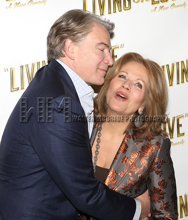 Douglas Sills and Renee Fleming attends the 'Living on Love' photo call at the Empire Hotel on March 12, 2015 in New York City.