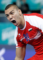 Egypt's Mohamed Mamdouh celebrates goal during 23rd Men's Handball World Championship preliminary round match.January 15,2013. (ALTERPHOTOS/Acero) /NortePhoto