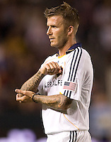 LA Galaxy midfielder David Beckham. The LA Galaxy defeated Chivas USA 1-0 to win the final edition of the 2009 SuperClásico at Home Depot Center stadium in Carson, California on Saturday, August 29, 2009...