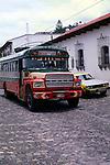 Local bus, Antigua, Guatemala, Central America,