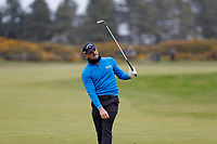 Haydn Porteous plays his approach shot to the 15th during the first day at the Betfred British Masters, Hillside Golf Club, Lancashire, England. 09/05/2019.<br /> Picture David Kissman / Golffile.ie<br /> <br /> All photo usage must carry mandatory copyright credit (© Golffile | David Kissman)