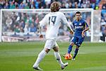 Getafe´s Victor Rodriguez during La Liga match at Santiago Bernabeu stadium in Madrid, Spain. December 05, 2015. (ALTERPHOTOS/Victor Blanco)