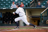 Empire State Yankees second baseman Corban Joseph #1 during game four of a best of five playoff series against the Pawtucket Red Sox at Frontier Field on September 8, 2012 in Rochester, New York.  Pawtucket defeated Empire State 7-1 to advance to the International League Finals.  (Mike Janes/Four Seam Images)