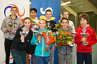 Rotterdam, The Netherlands, March 13, 2016,  TV Victoria, NOJK 12/16 years, winners and runners up 12 and 16 years<br /> Photo: Tennisimages/Henk Koster