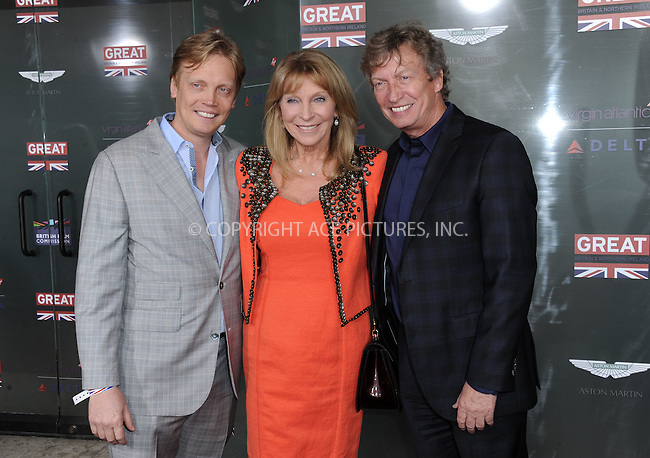 WWW.ACEPIXS.COM<br /> <br /> February 20 2015, LA<br /> <br /> Nigel Lythgoe (C) and Bonnie Lythgoe arriving at the GREAT British film reception honoring the British nominees of the 87th Annual Academy Awards at The London West Hollywood on February 20, 2015 in West Hollywood, California<br /> <br /> <br /> By Line: Peter West/ACE Pictures<br /> <br /> <br /> ACE Pictures, Inc.<br /> tel: 646 769 0430<br /> Email: info@acepixs.com<br /> www.acepixs.com