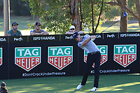 Danny Willett (ENG) in action on the 13th during Round 2 of the ISPS Handa World Super 6 Perth at Lake Karrinyup Country Club on the Friday 9th February 2018.<br /> Picture:  Thos Caffrey / www.golffile.ie<br /> <br /> All photo usage must carry mandatory copyright credit (&copy; Golffile   Thos Caffrey)