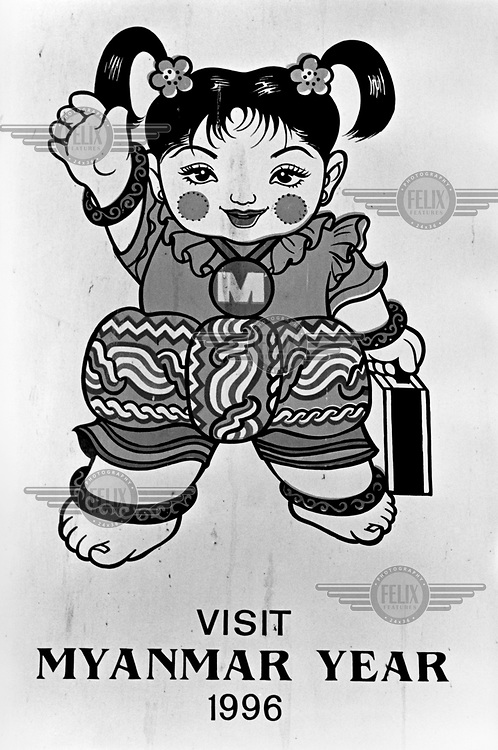 In 1996, the military junta launched 'Visit Myanmar Year', a tourism drive to entice foreign tourists, investment and much needed hard currency. This mascot was used to present a benign, fun-loving image to the outside world. /Felix Features