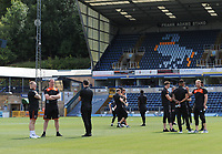 The Blackpool squad inspects the pitch<br /> <br /> Photographer Kevin Barnes/CameraSport<br /> <br /> The EFL Sky Bet League One - Wycombe Wanderers v Blackpool - Saturday 4th August 2018 - Adams Park - Wycombe<br /> <br /> World Copyright &copy; 2018 CameraSport. All rights reserved. 43 Linden Ave. Countesthorpe. Leicester. England. LE8 5PG - Tel: +44 (0) 116 277 4147 - admin@camerasport.com - www.camerasport.com