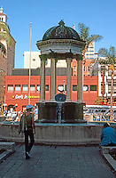 "San Diego: Horton Plaza Fountain. Irving Gill, 1910. ""After the Coregic Monument of Lysicrates, in Athens.""  (Photo '81)"