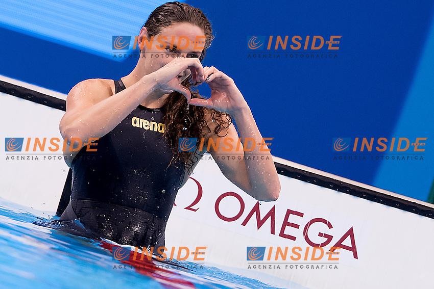 Hosszu Katinka HUN gold medal<br /> 100 backstroke women<br /> Rio de Janeiro  XXXI Olympic Games <br /> Olympic Aquatics Stadium <br /> swimming finals 08/08/2016<br /> Photo Giorgio Scala/Deepbluemedia/Insidefoto