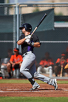 Colorado Rockies Brian Mundell (61) during an instructional league game against the San Francisco Giants on October 7, 2015 at the Giants Baseball Complex in Scottsdale, Arizona.  (Mike Janes/Four Seam Images)