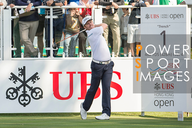 Andrew Dodt of Australia tees off the first hole of the 58th UBS Hong Kong Golf Open as part of the European Tour on 10 December 2016, at the Hong Kong Golf Club, Fanling, Hong Kong, China. Photo by Marcio Rodrigo Machado / Power Sport Images