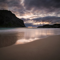 Sunset at Horseid beach, Moskenesøy, Lofoten Islands, Norway