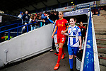 Liverpool Ladies 2 Everton Ladies 1, 19/03/2017. Select Security Stadium, SSE FA Cup Fifth Round. Liverpool's Gemma Bonner leads her team out before the game between Liverpool Ladies v Everton Ladies at The Select Security Stadium, Widnes, in the Women's SSE FA Cup Fifth Round. Photo by Paul Thompson.