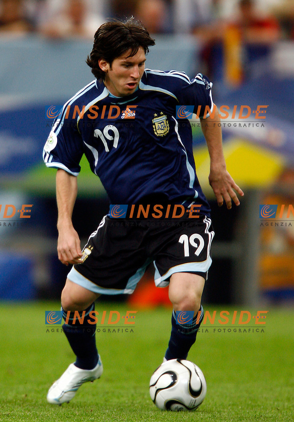 Gelsenkirchen 16/6/2006 World Cup 2006.Argentina Serbia & Montenegro 6-0.Photo Andrea Staccioli Insidefoto.Lionel Messi Argentina