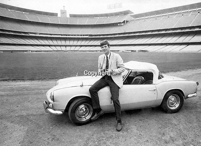 Ron Bennett Photojournalist in Dodger Stadium with Dave Kennerly car, Photojournalism, Photojournalist, News, sports, features, Hollywood, White House, &quot;Photography is art at the speed of light,&quot;<br /> Anonymous photographer,<br /> Political,  &quot;Photography is art at the speed of light,&quot;