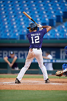 Jaden Sheffield (12) of Tampa Preparatory School in Tampa, FL during the Perfect Game National Showcase at Hoover Metropolitan Stadium on June 20, 2020 in Hoover, Alabama. (Mike Janes/Four Seam Images)