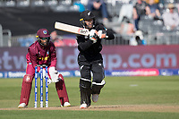 Tom Blundell (New Zealand) pushes into the on side and sets off for runs during West Indies vs New Zealand, ICC World Cup Warm-Up Match Cricket at the Bristol County Ground on 28th May 2019