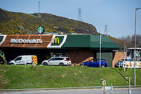 Pictured: A general view of McDonalds on Fabian Way in Swansea during the Covid-19 Coronavirus pandemic in Wales, UK, Swansea, Wales, UK. Monday 23 March 2020