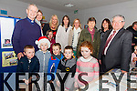 Pictured at the opening of an exhibition celebrating 50 years of history in Aghatubrid NS pictured front l-r; Noah Osborne, Conor Lyne, Roman Cournane, Stephen O'Neill, Sarah Lilly McGill, back l-r; Canon Larry Kelly, Abina O'Connor, Eve North, Sinead Clifford-O'Sullivan(Principal), Ann Wharton, Aoibheann O'Sullivan-Murphy, Ina O'Keeffe(One of the first teachers in the school), Noreen O'Sullivan & Leonard Hurley who opened the exhibition.