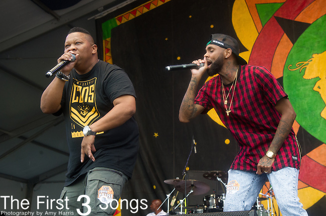 Mannie Fresh performs during the 2015 New Orleans Jazz & Heritage Festival in New Orleans, Louisiana.