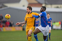 during the Sky Bet League 2 match between Newport County and Carlisle United at Rodney Parade, Newport, Wales on 12 November 2016. Photo by Mark  Hawkins.