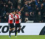 28.11.2019: Feyenoord v Rangers: Luis Sinisterra scores and celebrates