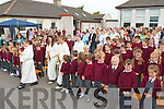 MASS: Teachers, students and parents of Scoil Naomh Eric, Kilmoyley at the Mass and Blessing of their school by Fr Liam Lovell and Fr Donnacadh Leahy on Tuesday morning.   Copyright Kerry's Eye 2008