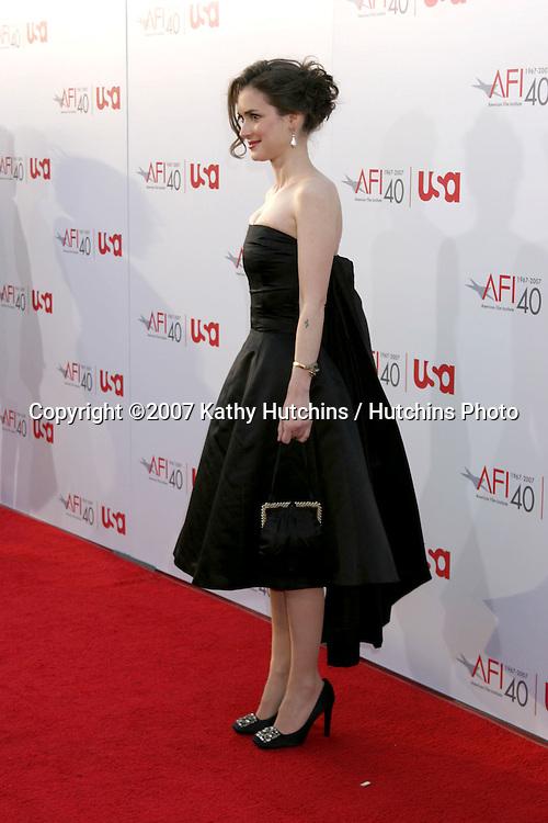 Winona Ryder.AFI Salute to Al Pacino.Kodak Theater.Los Angeles, CA.June 7, 2007.©2007 Kathy Hutchins / Hutchins Photo....