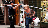 The New York Police Department has been found a suspicious package in Times Square in New York September 19, 2011. The package was later determined to be an empty suitcase.
