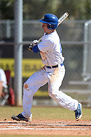 South Dakota State JackRabbits infielder Al Robbins (21) at bat during a game against the Georgetown Hoyas at South County Regional Park on March 9, 2014 in Port Charlotte, Florida.  Georgetown defeated South Dakota 7-4.  (Mike Janes/Four Seam Images)