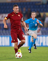 Calcio, Champions League, Gruppo E: Roma vs CSKA Mosca. Roma, stadio Olimpico, 17 settembre 2014.<br /> Roma forward Francesco Totti in action during the Group E Champions League football match between AS Roma and CSKA Moskva at Rome's Olympic stadium, 17 September 2014.<br /> UPDATE IMAGES PRESS/Isabella Bonotto