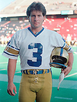 Trevor Kennerd Winnipeg Blue Bombers kicker 1983. Copyright photograph Scott Grant