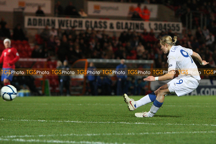 Ellen White scores the second goal for England - England Women vs Serbia Ladies - UEFA Euro 2013 Group 6 Qualifier at Keepmoat Stadium, Doncaster Rovers FC - 23/11/11 - MANDATORY CREDIT: Gavin Ellis/TGSPHOTO - Self billing applies where appropriate - 0845 094 6026 - contact@tgsphoto.co.uk - NO UNPAID USE.