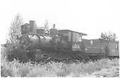 Engine #201 in storage.<br /> D&amp;RGW  Gunnison, CO  9/20/1936