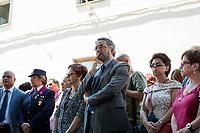 Renato Cortese - Police Commissioner of Palermo (Questore della Polizia di Palermo).<br /> <br /> Palermo (Sicily - Italy), 18/07/2017. 25th Anniversary Commemoration of Via D'Amelio bombing, at the &quot;Reparto Scorte&quot; of the Lungaro Police Station in Palermo (The 'Reparto Scorte' is a special branch of the Italian police force, responsible for protecting Judges). On the 19 July 1992, 100kg TNT bomb killed the anti-mafia Magistrate Paolo Borsellino. Also killed by the bomb were five members of Borsellino's police &quot;scorta&quot; (escorts from the special branch of the Italian police force who protect Judges). The police officers were: Agostino Catalano, Emanuela Loi (the first Italian female member of the police special branch and the first one to be killed on duty), Vincenzo Li Muli, Walter Eddie Cosina and Claudio Traina.<br /> <br /> For more info please click here: http://19luglio1992.com &amp; https://www.facebook.com/agenderosse/ &amp; http://www.siap-polizia.org/